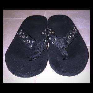 American Eagle Black Flip Flops, Size 9